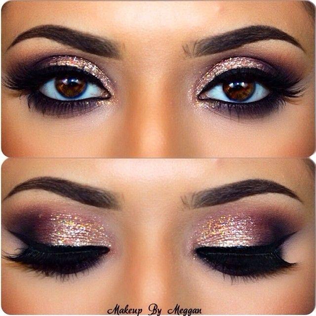 Maquillaje para ojos cafés, resplandeciente. Foto: iconosquare.com