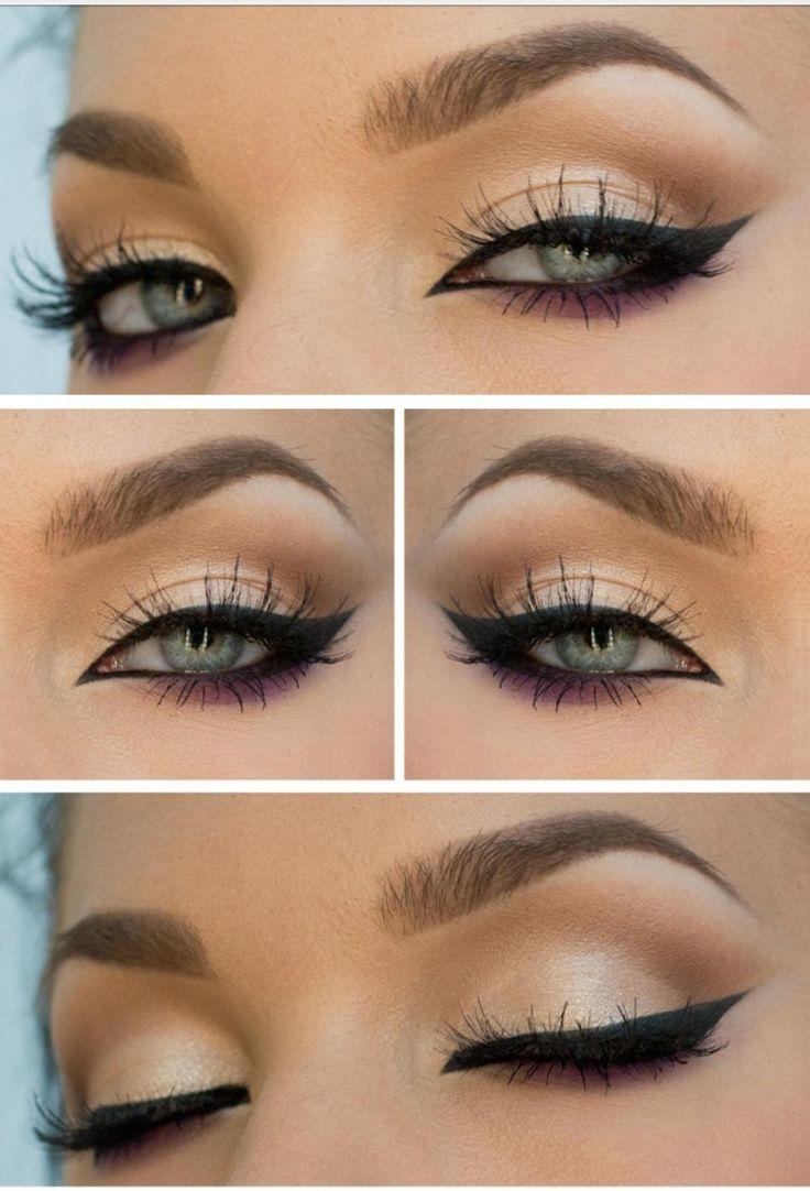 Maquillaje para ojos claros o caf s paso a paso for Pintarse los ojos facil