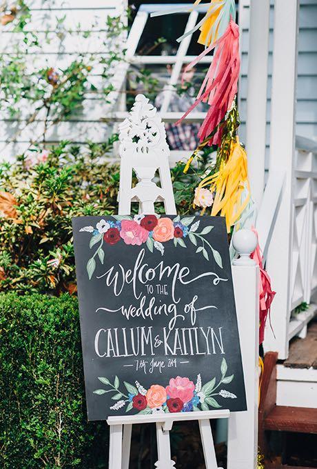 Sencillo de hacer: un original cartel para bodas - Fotografia: Jess Jackson Photography