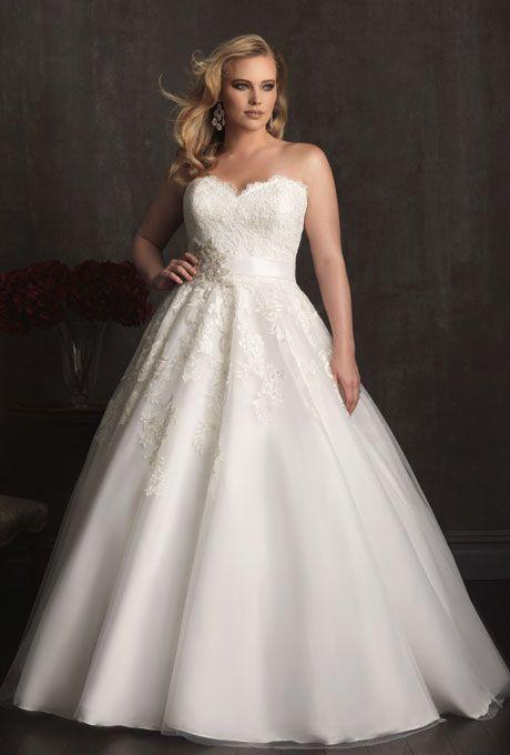 Allura Bridals ofrece vestidos de novia para gorditas. Celebra tus curvas con este vestido de tulle