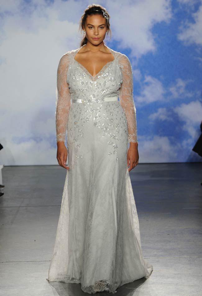 Alucinante vestido para novias gorditas vintage glam de Jenny Packham