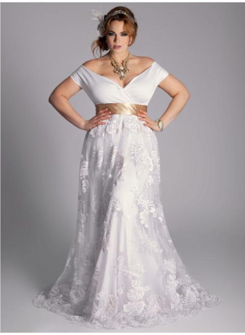 252170091 31 Vestidos de Novia para Gorditas Elegantes y Actuales