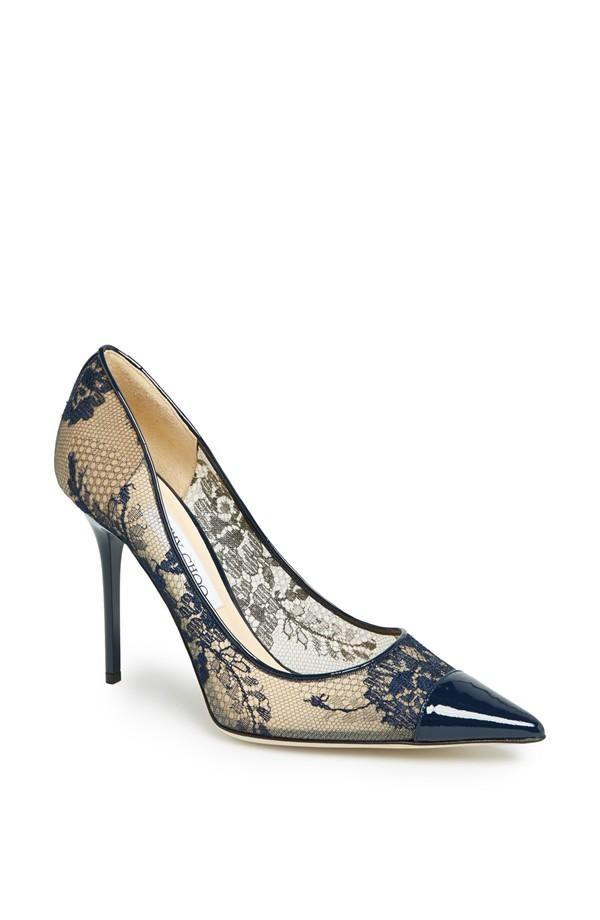 Ele gante estampado en este finísimo zapato para madrina de bodas de Jimmy Choo