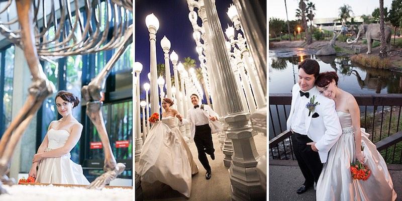Una boda inolvidable . Los lugares para bodas en Los Angeles mas originales: La Brea Tar Pits Museum