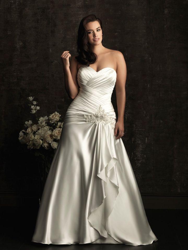 Los vestidos con fruncidos disimulan los kilitos de mas y acentúan tus bellas curvas - Allure Bridals