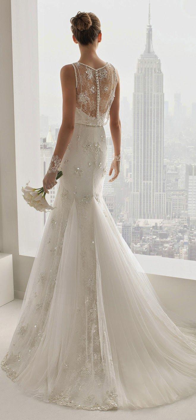 Siluetas románticas e increíble detalle en la colección de Rosa Clara 2015 - Vestidos de novia estilo tattoo lace.