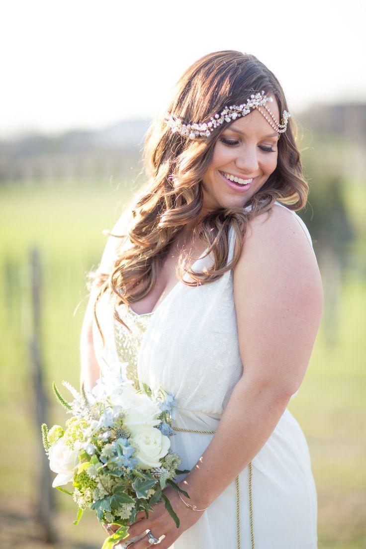 Vestido de novia boho chic para gorditas - Fotografia Kristin La Voie Photography