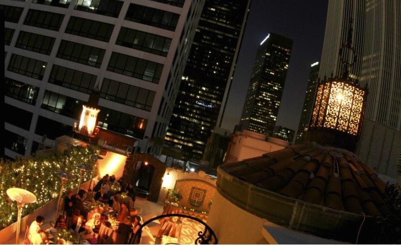 Vista de la terraza del Oviatt Pentahouse en Los Angeles