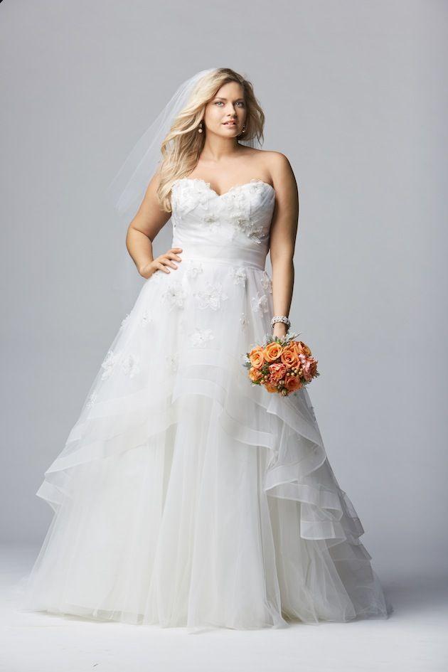 Watters y la colección Wtoo Curve - Alucinantes vestidos de novia para gorditas con estructura y capas vaporosas