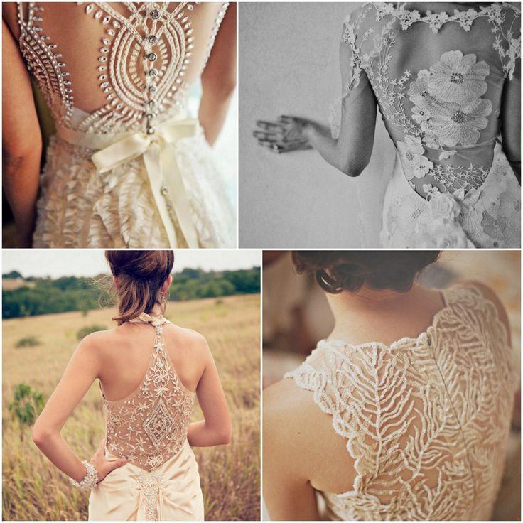 Vestidos de novia con espalda descubierta y encaje estilo tattoo lace, soñados.