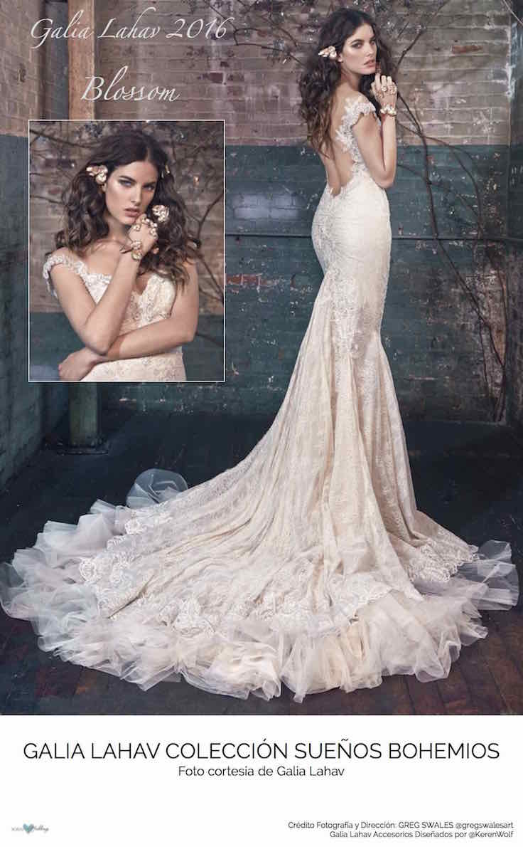 Blossom, la sencillez del vintage. Vestidos de novia de Galia Lahav 2016.