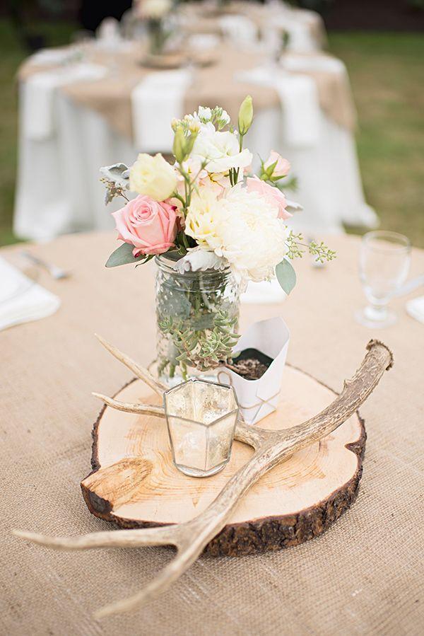 Centro de mesa country boho chic para tu boda. No te pierdas las 10 tendencias de bodas 2016!