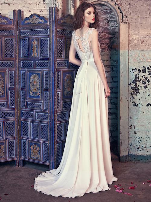 Espalda del vestido de novia Donna de Galia Lahav