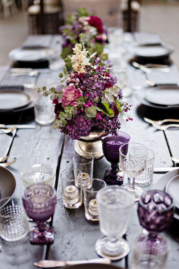 Mesas decoradas con estilo vintage.- Fotografia: Andie Freeman