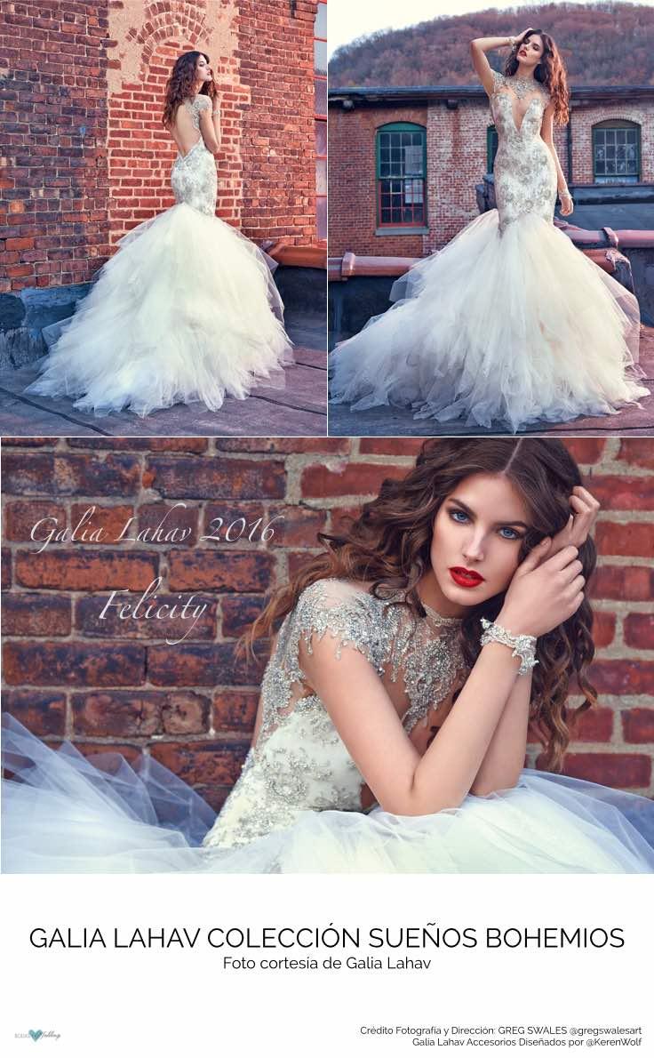 Novias Galia Lahav ¿Quien no desea ser una de ellas? Modelo Felicity, dramatismo y ensueño.