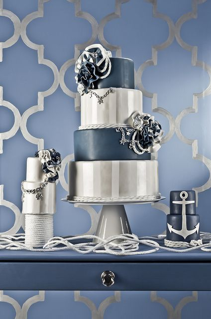 Torta para boda náutica