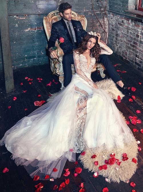 Lujo y sensualidad en vestidos de novia. Vestido de novia Tiger Lily. Galia Lahav