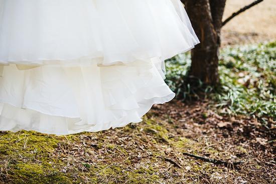 Detalle del vestido de novia. Crédito de Fotografía Christian Turner
