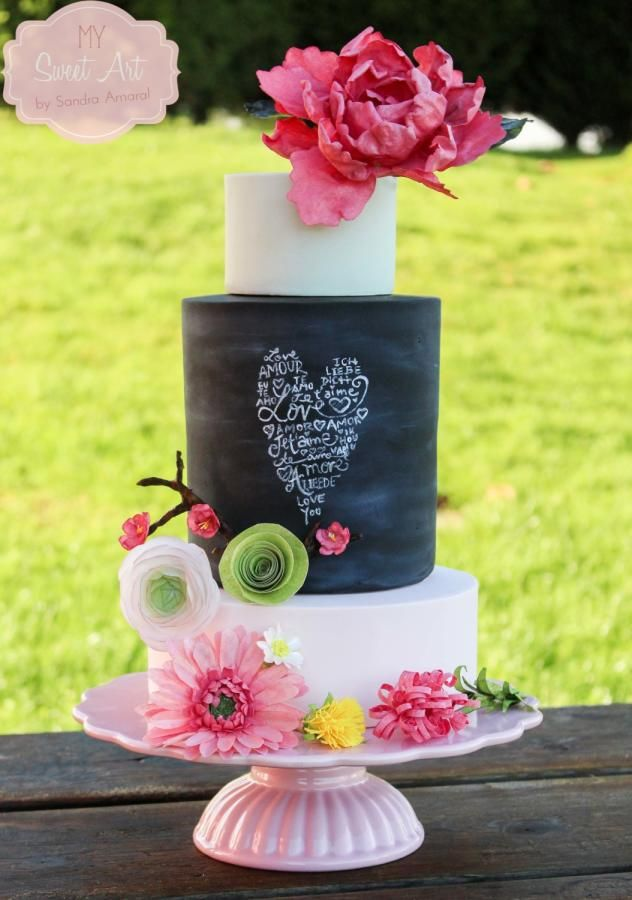 My Sweet Art confeccionó esta espectacular torta de casamiento. Foto: cakesdecor.com