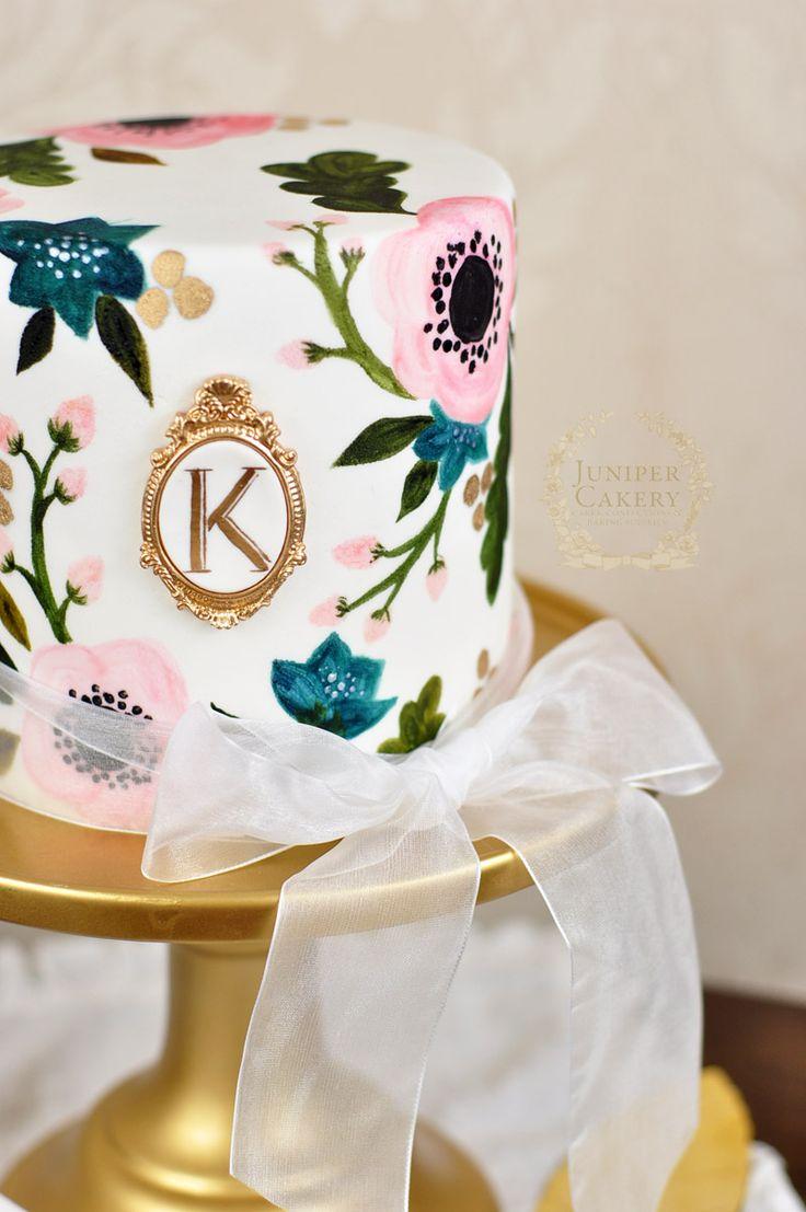directo de juniper cakery tortas de boda vintage pintadas a mano