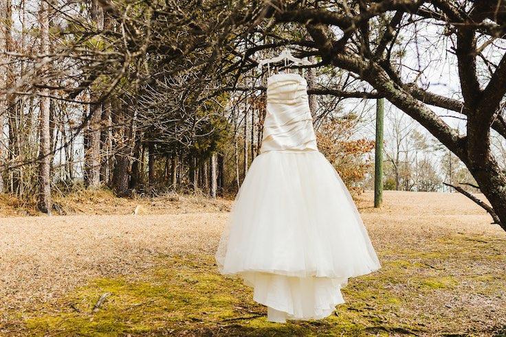 Vestido de novia vintage. Crédito de Fotografía Christian Turner