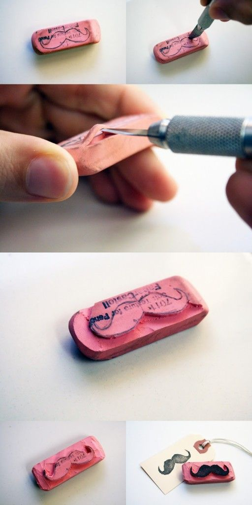 Cómo hacer un sello de bigote para personalizar tus invitaciones de boda. Foto: wedgienet.net