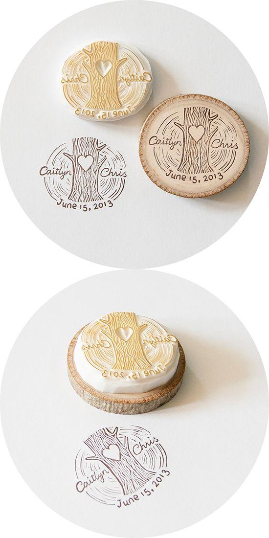 Idea original para bodas: sellos personalizados.