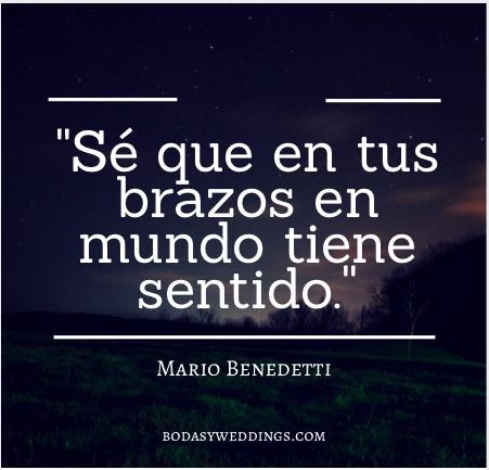 Frases cortas de amor de Mario Benedetti.