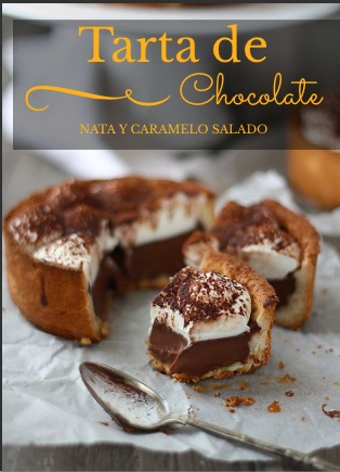 Tarta de chocolate, nata y caramelo salado. Yummy!! Que ganas de chocolate que tengo!