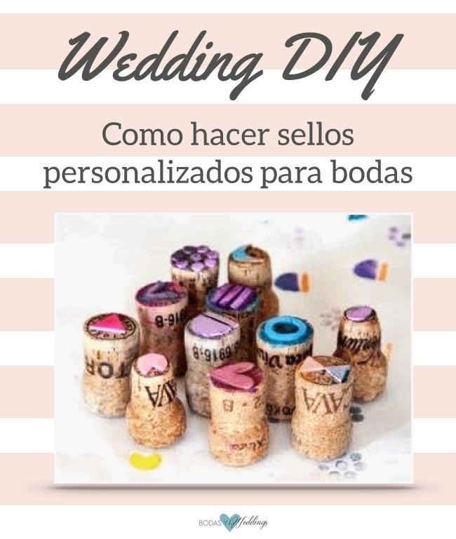 Cómo hacer sellos personalizados para bodas super sencillos: Corta el diseño que te gusta ¡y pégalo sobre un corcho!
