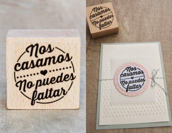 Ideas para una boda original: ideas para usar un sello personalizado en tu boda. Foto: bodascondetalle.es