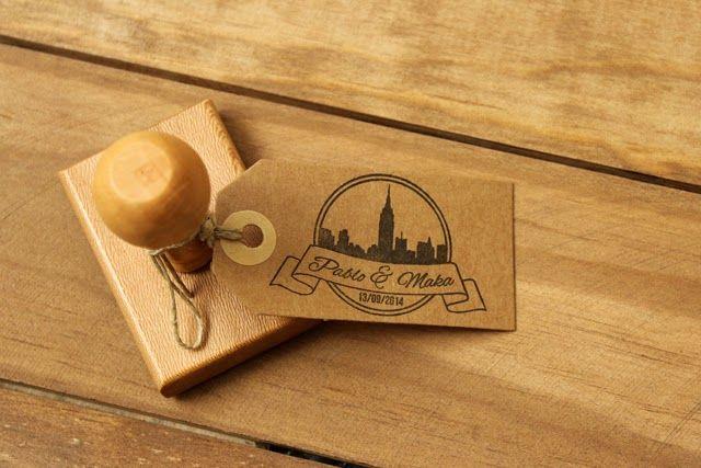 Invitaciones de boda originales con sello personalizado, una creación de Hermanas Bolena