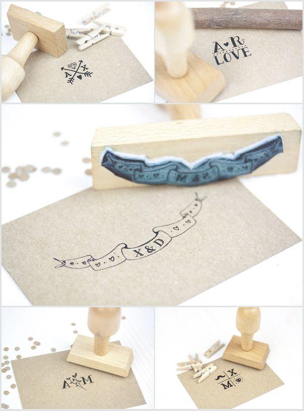 Original idea para bodas: sellos tipográficos. Foto: projectpartystudio.com