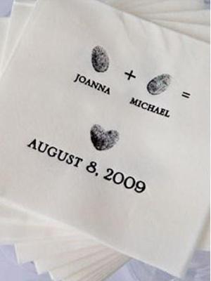 Una idea original para personalizar las servilletas de tu boda.