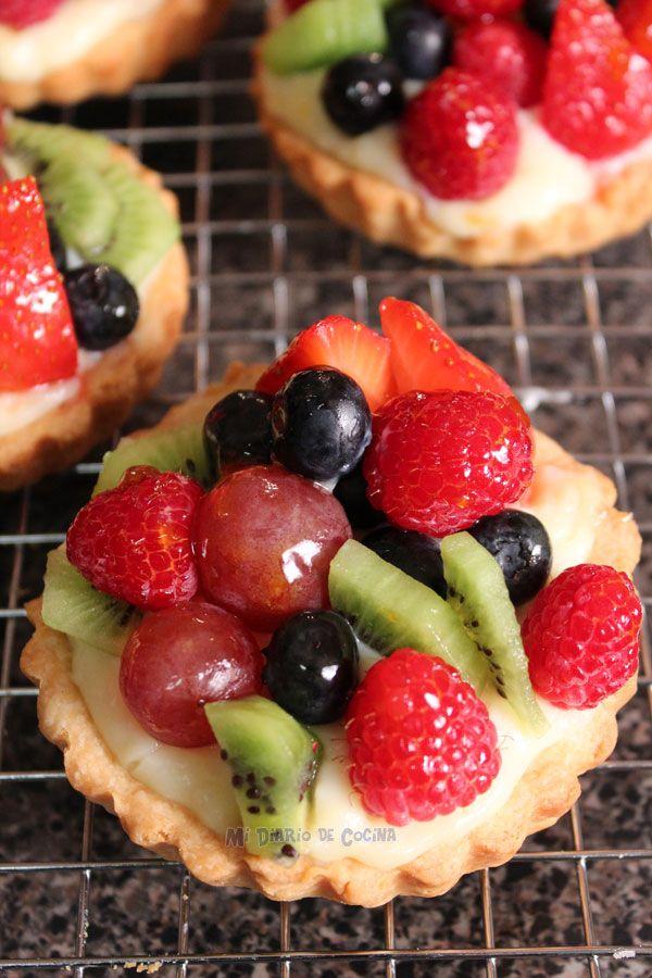 Las tartaletas de frutas son perfectas para el postre. Foto y receta de midiariodecocina.com