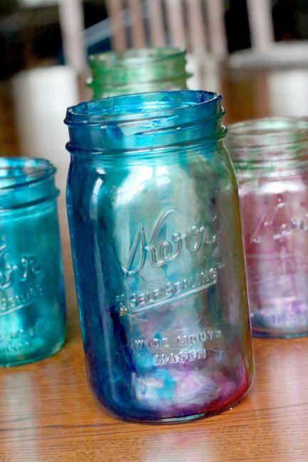 Manualidades para bodas fáciles de hacer con mason jars.