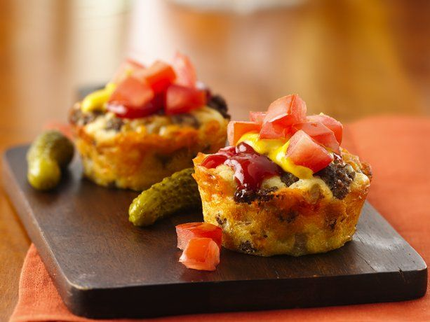 Mini cheeseburger pies. ¿A que no lo adivinabas?
