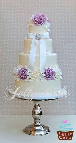 Pastel vintage en lila de Jelly Cake
