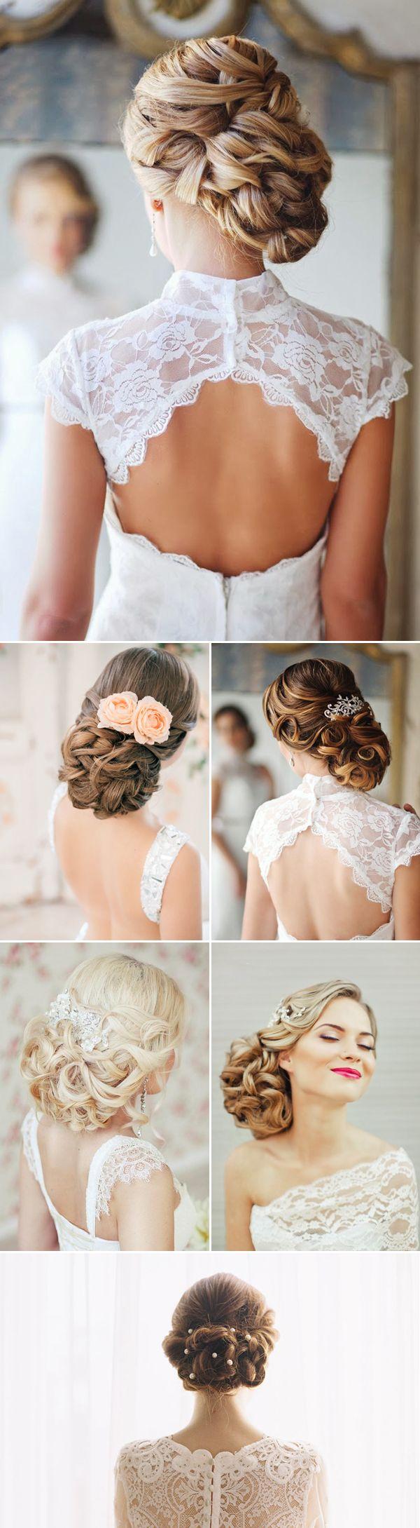 Peinados de novia recogidos bajos. Un peinado recogido no sólo da la apariencia nupcial que deseas sino que también destaca tus rasgos faciales y tu estilo único.