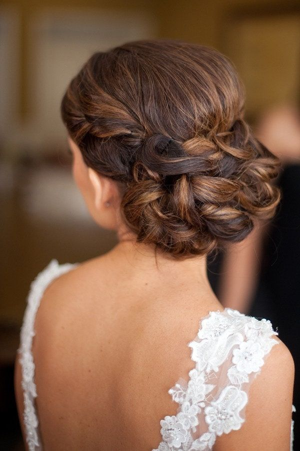 Peinados de novia recogidos con trenzas.
