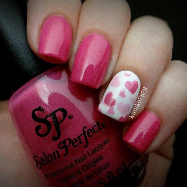 Románticas ideas de arte para uñas perfectas para Valentine's day