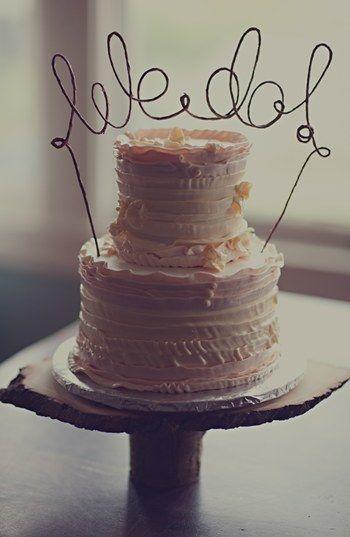 ¡Si, quiero! en este cake topper de Nordstrom