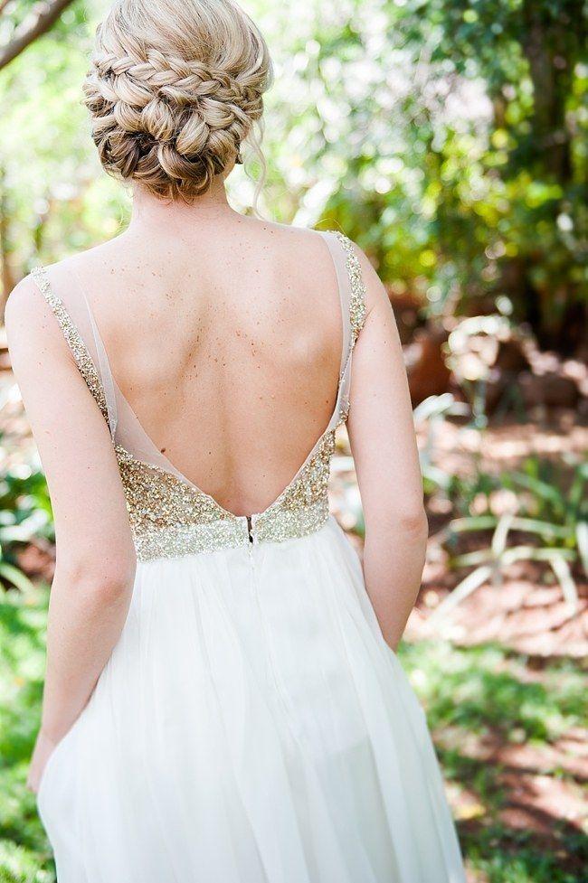 Trenzas para un peinado recogido bajo, impresionante y perfecto para cualquier estilo de boda.