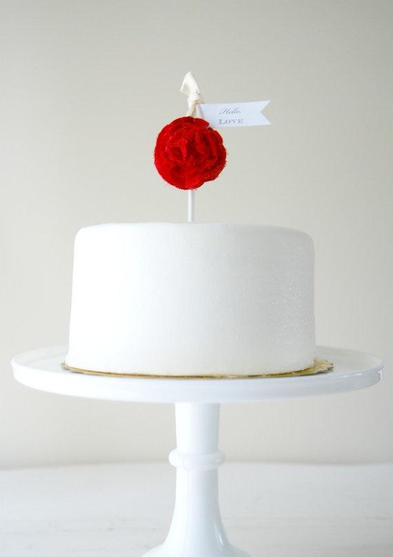 ¿Alguna vez viste cake toppers mas sencillos y originales que este?