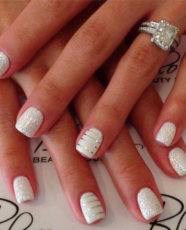 ideas de arte de uñas faciles de hacer. Haz alarde de tu anillo de compromiso con manicuras llamativas y creativas que puedes hacer tu misma.