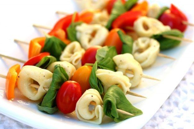 ¡Para una Italian Wedding! Mini ensalada de tortellini.