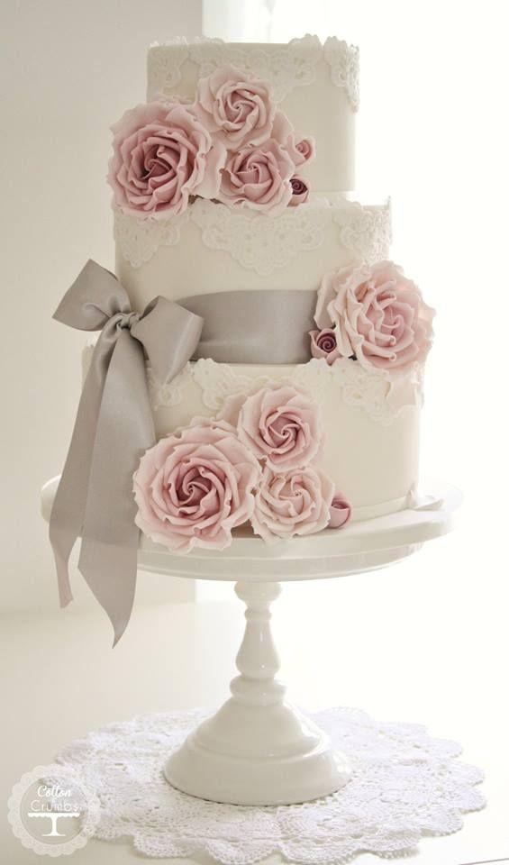 Tortas De Casamiento Vintage Rom 225 Nticas Y Elegantes