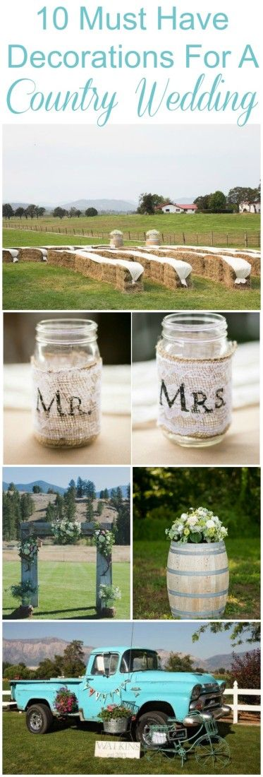 Decoraciones de bodas rusticas infaltables en tu wedding.