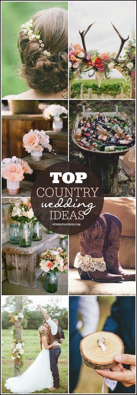 Las mejores ideas para una country wedding. Llenas de manualidades y muy económicas estas bodas están causando furor.