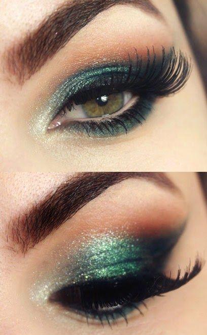 Maquillaje para ojos inspirado en el que Lady Gaga lució en los Grammys 2015.